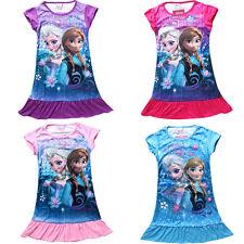 Frozen Vestido De Noche Azul Princesa Disney Elsa Anna Vacaciones Camisón niña
