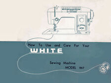 WHITE 967 INSTRUCTION Book / OPERATING MANUAL, CD /PDF