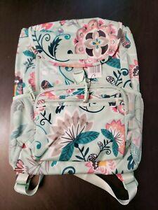 Vera Bradley Lighten Up Day Tripper Daytripper Backpack Mint Flowers NWT