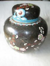 """Huge Chinese Cloisonne Ginger Jar Vase - 11"""""""