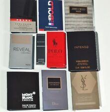 Lot of 10 Mens Cologne Samples Ralph Lauren Jimmy Choo Dior Mont Blanc YSL Prada