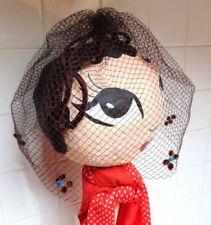 Stunning Genuine Vintage 1940s Fascinator Net Headpiece Headband Wedding Floral
