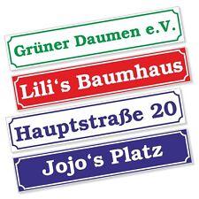 Straßenschild Wunschtext Grundstück Garten Haus Schild Aufkleber DRU 0076