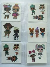 6pcs Small size Temporary Tattoo DOLLS Great for Party Bags  5,5x5,5cm