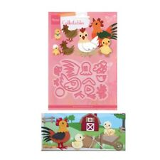 Eline's Chickens Metal Die Cut Set Marianne Cutting Dies COL1429 Farm Animals