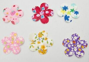 FELT APPLIQUE PATTERNED FLOWERS (SEWING, CRAFTS, QUILTING, CARD MAKING, ETC)