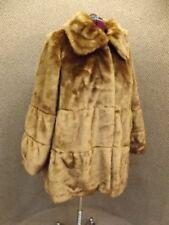 Beautiful Chic NEW Brown Plush Soft Mink Faux Fur Short Coat Woman Within Sz 1X