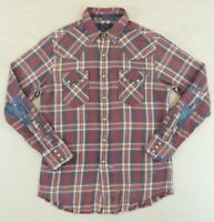 Polo Ralph Lauren Repaired Western Patch Patchwork Flannel RRL Style Shirt M XL