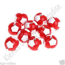 10 Motivperlen 12mm Fussballperlen / Fussball / Fußballperlen Fußball