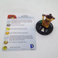 Heroclix Superman and Legion set Wildfire #021 Uncommon figure w/card!