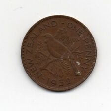 New Zealand One Penny 1952 George VI