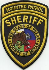 BEXAR COUNTY TEXAS TX Horse MOUNTED PATROL SHERIFF POLICE PATCH