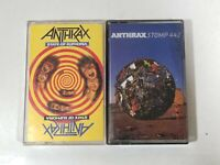 Lot of 2 Anthrax Cassette Tapes - State of Euphoria & Stomp 442