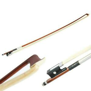 Professional 4/4 High Quality Arbor Violin Bow with Black Handle Brown USA