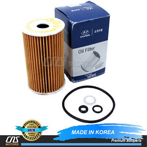 GENUINE Oil Filter for 07-17 Equus Genesis Sonata Veracruz Sorento 263203C30A
