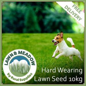 Hard Wearing Grass Seed for Garden Lawns 10KG  - FAST GROWING & MULTI-PURPOSE