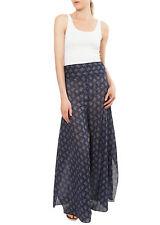 Damenhosen weitem Bein aus Baumwolle mit hoher Bundhöhe