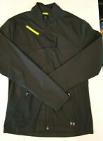Under Armour Womens M Full Zip Front Heat Gear Semi Fitted Black Jacket