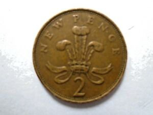 2p New Pence coin 1980 - (Two pence pre 1983)