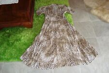 FAITHFUL THE BRAND sz 10 NEW leopard animal Summer midi maxi Flowy dress