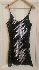 Fabulous sequinned dress! Night out, evening wear, black, silver