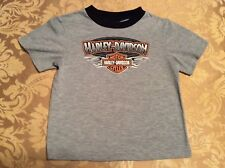 HARLEY-DAVIDSON MOTORCYCLES Size Youth 8 Gray T Shirt