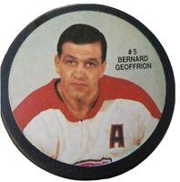 BERNARD GEOFFRION VINTAGE LIMITED EDITION NHL HOCKEY PUCK VICEROY CANADA HABS