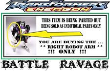 Transformers Energon _ Battle Ravage  _ Right Front Panther Leg / Robot Arm