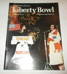 1974 Liberty Bowl Program - Tennessee Vols Win!
