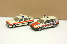 Herpa 1/87 HO Set of 2 VW Passat and Opel Vectra Ambulance Firefighters