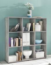 Wilmes: Raumteiler mit 9 Fächer - Bücherregal Standregal Regal - Betonoptik
