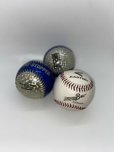 Lot Of 3  Baseballs Easton Practice Ball And Two Game Stoppers VGUC