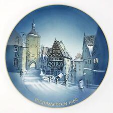 Christmas Plate Rosenthal Weihnachten George Kuspert Rothenburg 1969