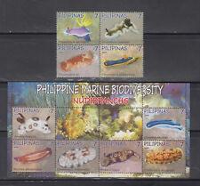 Philippine Stamps 2009 Marine Biodiversity (Nudibranchs) Complete Set MNH