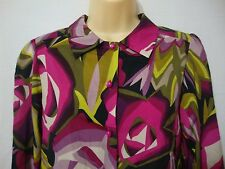 Missoni for Target Small Long Sleeve Blouse Shirt Floral Roses Purple Pink