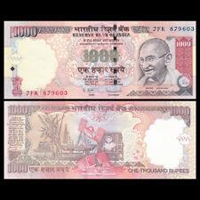 India 1000 1,000 Rupees, 2011, P-100, UNC