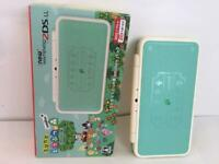 New Nintendo 2DS LL Animal Crossing Leaf Japanese version amiibo Pack Free Ship