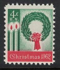 Scott 1205- Christmas Wreath and Candles- MNH 1962- 5c mint stamp
