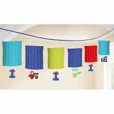 1st Birthday Blue Lantern Garland Decoration Boys Age 1 Party Lantern Bunting