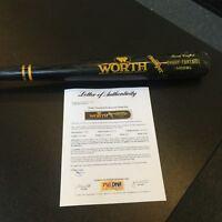 1989 Danny Tartabull Home Run Game Used Signed Worth Baseball Bat PSA DNA COA