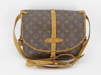 Louis Vuitton Monogram Saumur 30 Shoulder Bag M42256 F/S From Japan #DC58