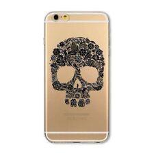 Silikon Hülle für iPhone 6 6S mit Motiv Totenkopf Handy Smartphone Schutz Neu