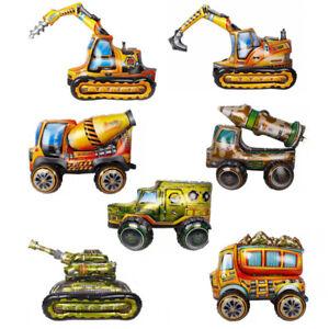 Engineering Vehicle Theme Balloon Excavator Mixer Tank Gift Birthday Party Decor