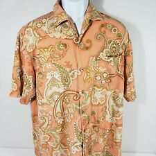Tommy bahama button down shirt  men large with design D-223