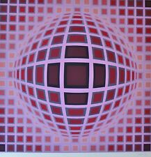 "VICTOR VASARELY "" LOUISIANA I "" 1983 HAND SIGNED LIM.ED 20/275 silkscreen op art"