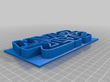 3D Printed Star Wars Logo Cookie Cutter