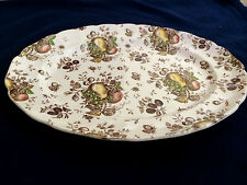 Johnson Bros England Autumn's Delight White Oval Serving Platter Plate