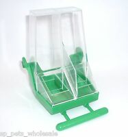 DOUBLE FEEDER WITH PERCH FOR BREEDING CAGE/AVIARY USE