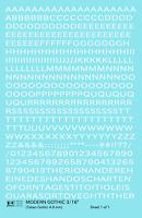K4 HO Decals White 3/16 Inch Modern Gothic Letter Number Alphabet Set