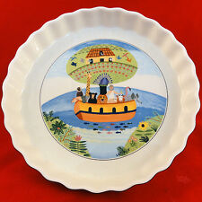 "NOAH'S ARK QUICHE DISH 9.5"" diameter NAIF DESIGN Villeroy & Boch NEW NEVER USED"